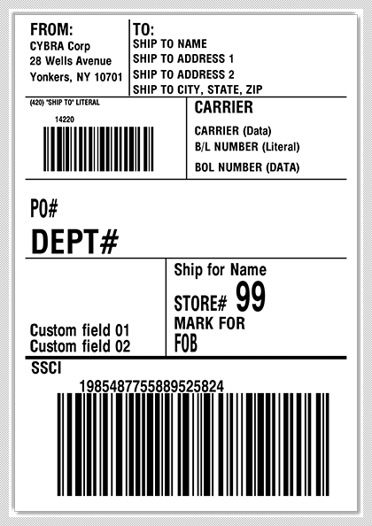 Develop shipping labels with MarkMagic within your Manhattan WMi license.