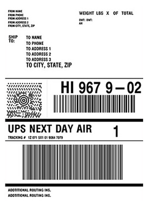 Design and print UPS shipping labels with JMagic